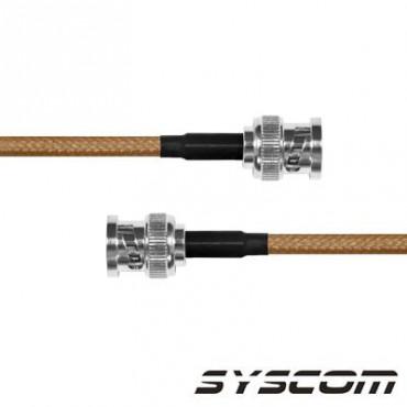 Cable RG142 con conectores BCN MACHO/BCN MACHO.