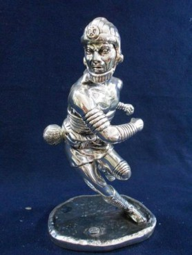 JUGADOR DE PELOTA MEDIANO, esculturas antigüas de bronce