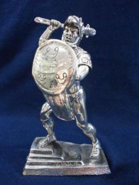 CABALLERO ÁGUILA MEDIANO, figuras de plata, figura de bronce antigüa, esculturas