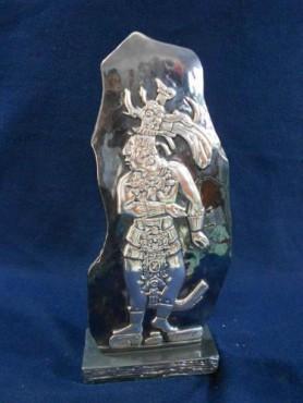 LÁPIDA DE PAKAL, Artesania de plata Mexicana, artesanias figuras en plata