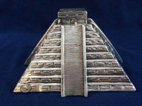PIRÁMIDE GRANDE, artesanías de México, Artesania de plata y bronce Mexicana