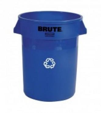 Contenedor BRUTE® para reciclaje con canales de ventilacion 166L