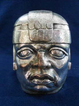 CABEZA OLMECA GRANDE, artesanias figuras y escuturas, objetos antigüos