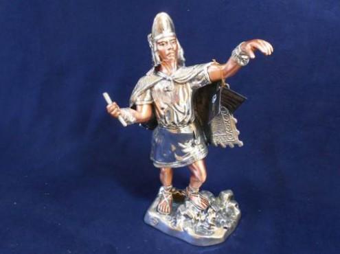 NEZAHUALCOYÓTL, figuras y esculturas en plata, figuras prehispanicas, guerreros