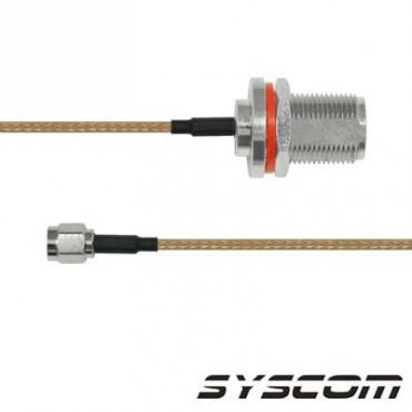 Cable RG316, con conectores N HEMBRA/SMA.