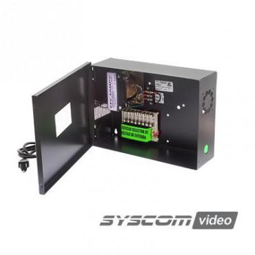 Fuente de Poder para CCTV de 8 salidas a 24 Vca. 4 Amp
