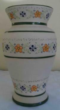 Florero Extragrande de cerámica de alta temperatura decorado a mano diseño ornamENTAL
