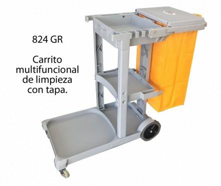 CARRITO GRIS DE LIMPIEZA