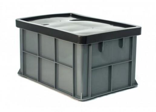 Contenedor de Plástico Quebec con Tapa, Capacidad: 15 kg.