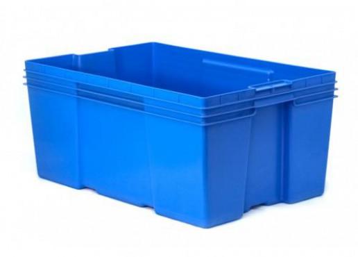 Caja De Plástico Montreal Cerrada de 28,Capacidad: 35 kg.