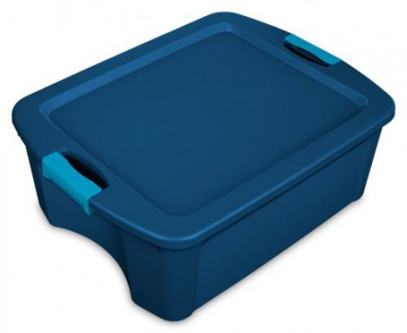CAJA DE PLASTICO STERILITE CON SEGURO, CAJA LATCH AND CARRY 12 GAL / 45 L