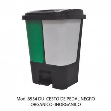 Bote de basura de pedal de 17 litros