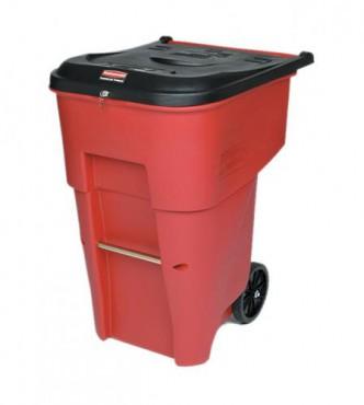 Contenedor con ruedas BRUTE para desperdicios medicos 360L.