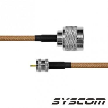 Cable RG142, con conectores N Macho / MINI UHF Macho.