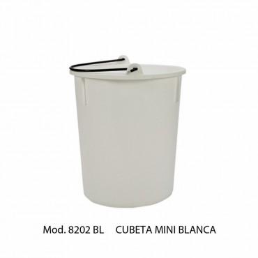 BOTE DE BASURA MINI BLANCA