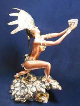 OFRENDA QUETZAL, Artesania de plata Mexicana, artesanias figuras en plata