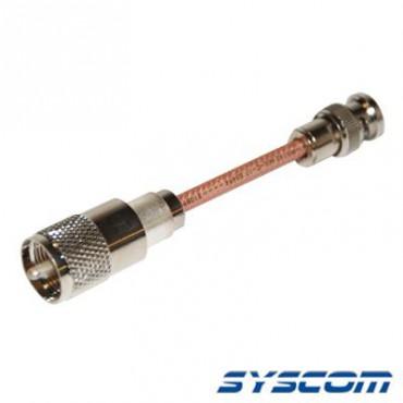 Cable RG142, con conectores BNC Macho /UHF (PL-259) Macho.