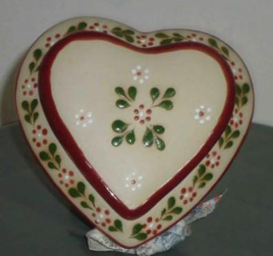 Alhajero Corazón realizado en cerámica de alta temperatura. Dulcero.