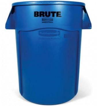 Contenedor redondo brute sin tapa de 208 L, Bote para basura de plastico Brute