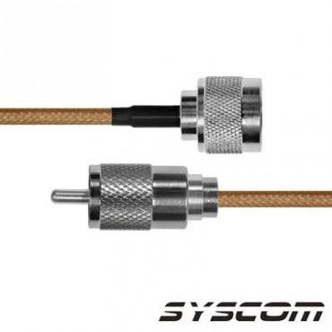 Cable RG142, con conductores N Macho / UHF (PL-259) Macho.