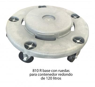 RUEDAS PARA CESTO DE BASURA 120 LTS