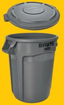 Contenedores Brute Rubbermaid 121 Litros SIN Tapa