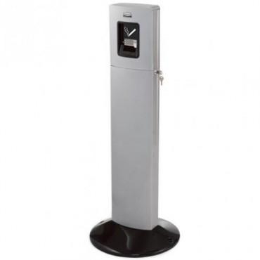 Manejo de desechos para fumadores atractivo y eficiente Metropolitan gris metáli