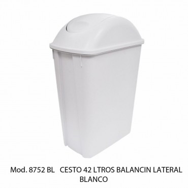 CESTO CON BALANCIN LATERAl 42 LTS