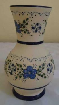 Florero Globo de cerámica de alta temperatura decorado a mano diseño ornamental.