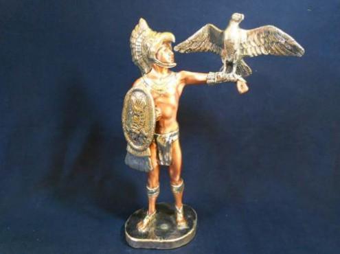 Caballero con aguila, Artesania de plata Mexicana