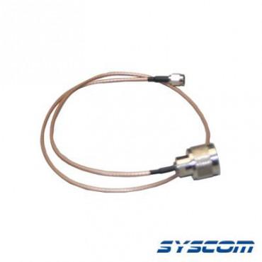 Cable RG-316 con conectores N Macho en un extremo y en el otro SMA Macho.