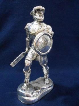 CABALLERO JAGUAR MEDIANO, Artesania de plata Mexicana, artesanias figuras en plaTA