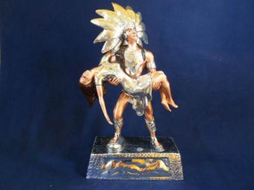 IZTACCIHUATL, Artesania de plata Mexicana, artesanias figuras en plata, objetos