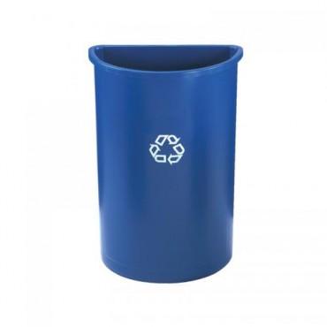 Contenedor semicilindrico para reciclaje