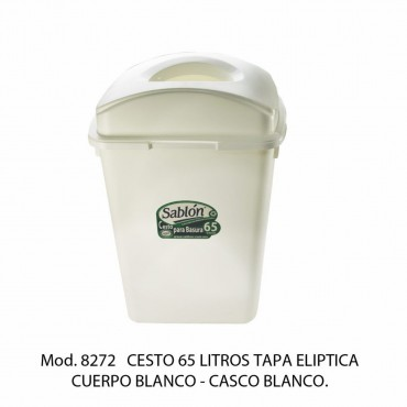 BOTE DE BASURA TAPA ELIPTICA 65 LTS
