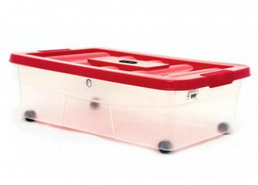 Caja De Plástico Con Ruedas Y Tapa, Uso Domestico, Erick 20 Europlast