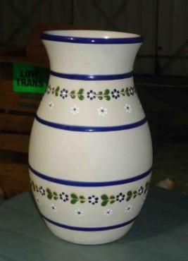 Florero Mediano de cerámica de alta temperatura decorado a mano diseño ornamenta