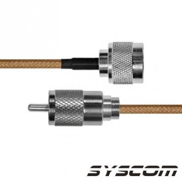Cable RG142, con conectores N Macho /UHF (PL-259) Macho.