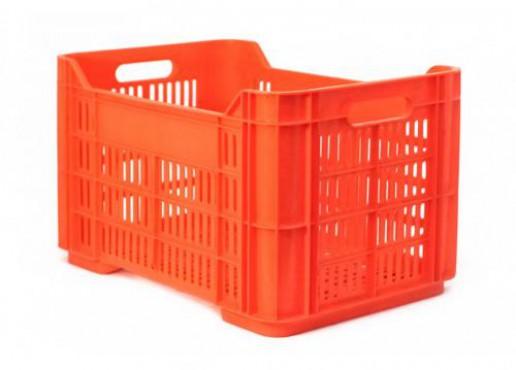 CAJA PLASTICA CALADA ANDREA, Capacidad: 30 kg.