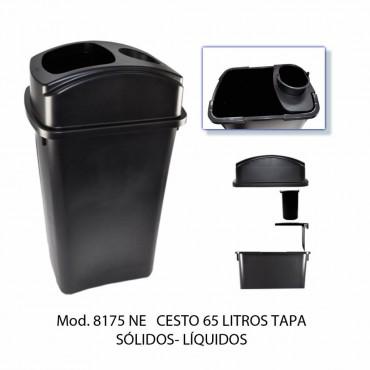 bote de basura de 65 litros para sólidos y líquidos.