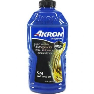 ACEITE DE MOTOR AKRON PREMIUM API SM SAE 20W50