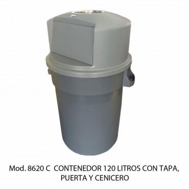 BOTE DE BASURA CIRCULAR 120 LTS