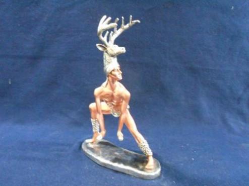 CABEZA PALENQUE MEDIANA, esculturas antigüas de bronce, esculturas en plata, fig