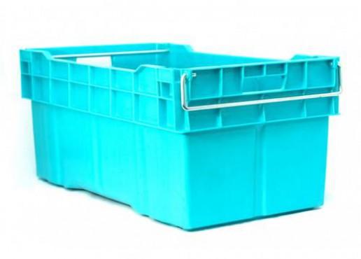 Contenedor De Plastico Enfilable Cerrada con Asa de Metal, Capacidad: 70 kg.