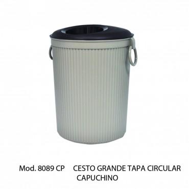 CESTO GRANDE DE TAPA CIRCULAR