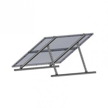 Montaje universal para 2 Módulos Fotovoltáicos de 250W (PROSE-250-24) o 3 Módulos de 150W (PROSE-150-12) en techos de lámina, concreto o piso.