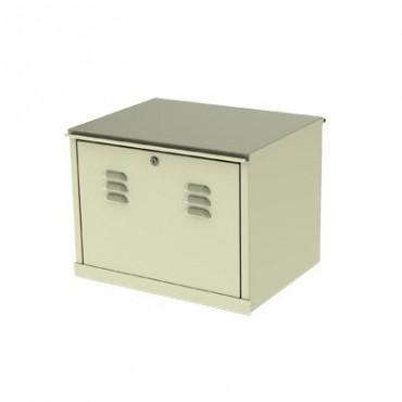 Gabinete para resguardo de baterías (hasta dos baterías PL110D12) con opción para montaje en poste.