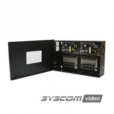 Fuente de poder para CCTV de 16 salidas a 12 Vcd, 10.2 A (Bajo pedido)