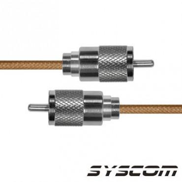 Cable RG142, con conectores UHF(PL-256) Macho / UHF (PL-259) Macho.