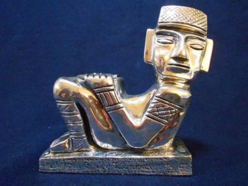 CHAC MOL MAYA MEDIANO 2, artesanias figuras y escuturas, que reflejan en los det